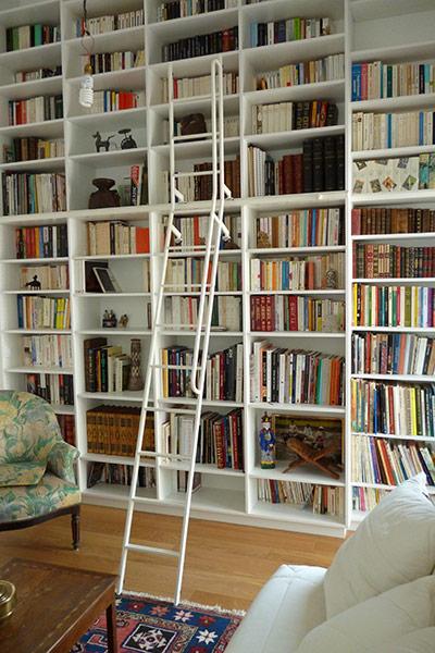 Artisan m tallier ghislain mathieu r alisations - Echelle de bibliotheque coulissante ...